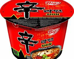 Instant Cup noodle, shin ramyun Big bowl, very hot