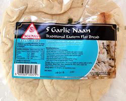 Sounas Naan Garlic 5pcs