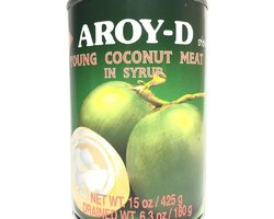 Aroy-D Young Coconut Meat in Syrup 425gr