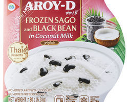 Aroy-D Sago and Black Bean in Coconutmilk 180gr