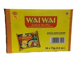 Wai Wai Instant Noodles Chicken Flavored 30x75g